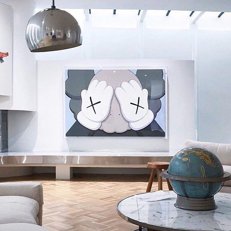 Hypebeast Inspired Rooms Chic Beautiful Home Kaws Artwork With