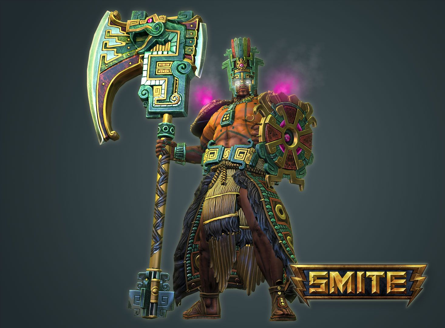 Chaac the mayan god of rain from the game smite