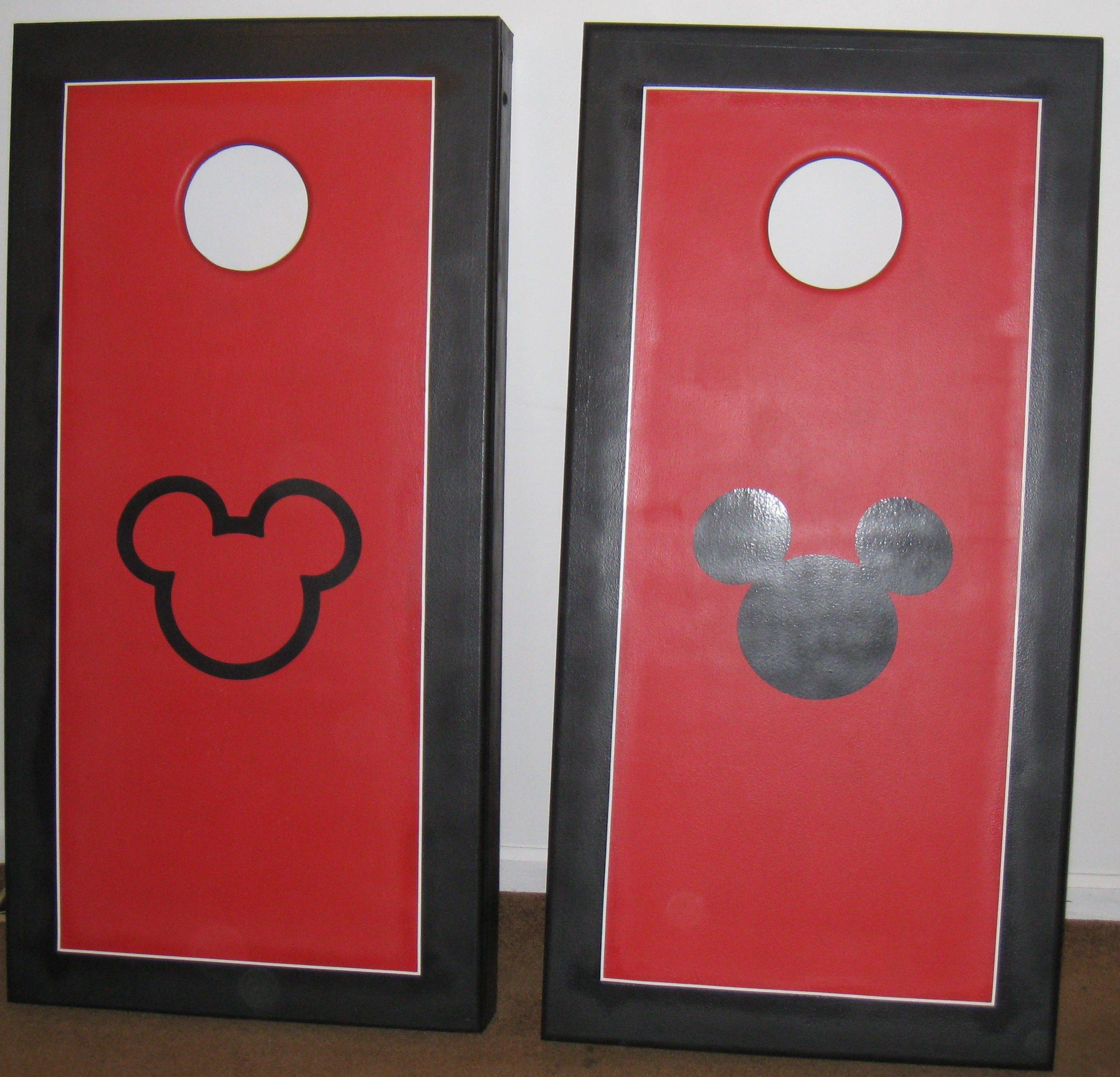 my husband u0026 i made these mickey mouse corn hole sets for my parents last year - Corn Hole Sets