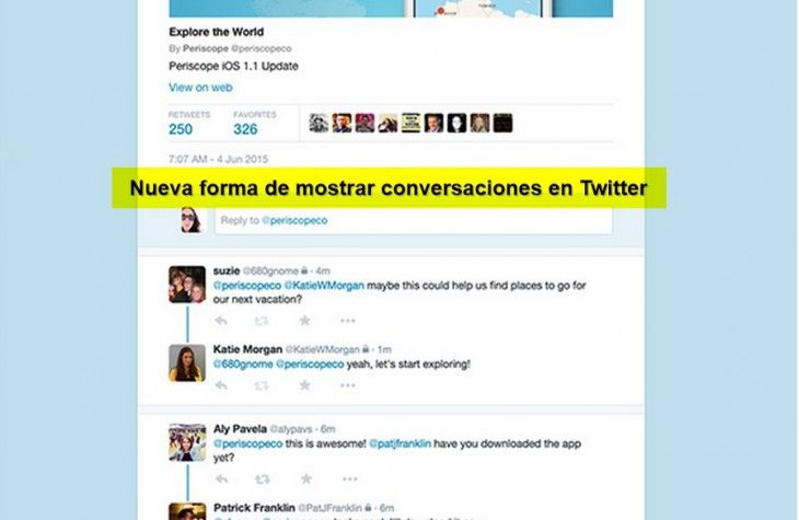 ONE: Twitter anuncia cambios en la forma que son presentadas las páginas de cada tweet