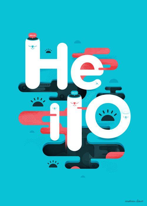 Hello Bank Mathieu Clauss Graphic Design Branding Graphic Design Typography Cool Typography