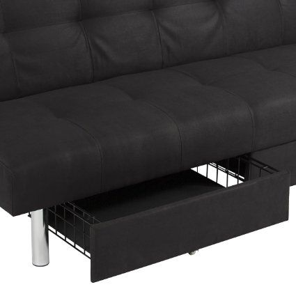 Amazon Com Best Choice Products Microfiber Futon Folding Sofa Bed
