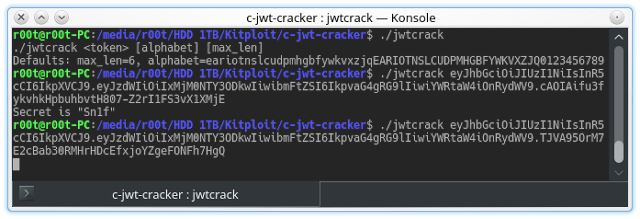 Jwt Cracker Jwt Brute Force Cracker Written In C Jwt Writing Force