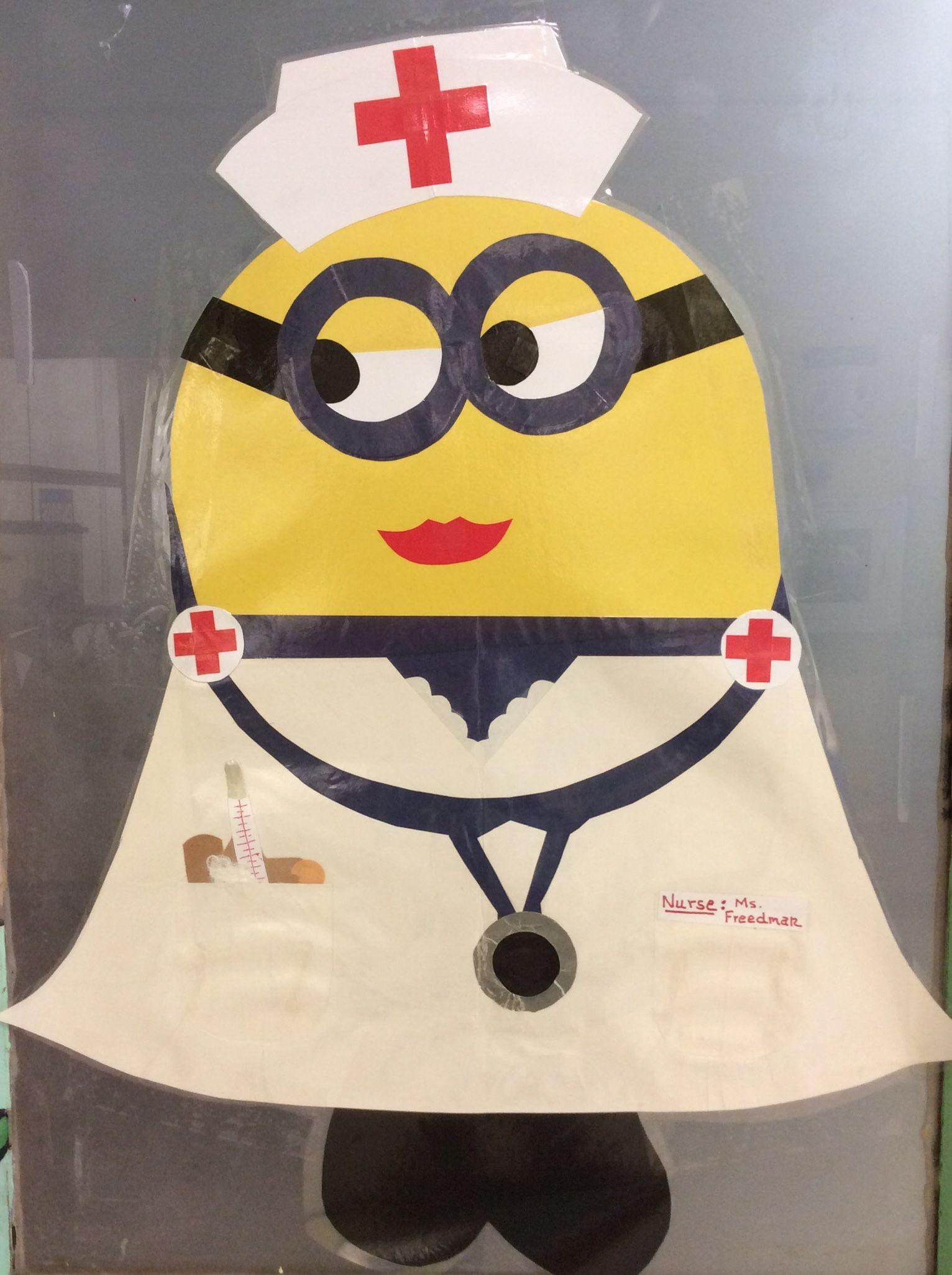 Minion Nurse: school nurse's office door