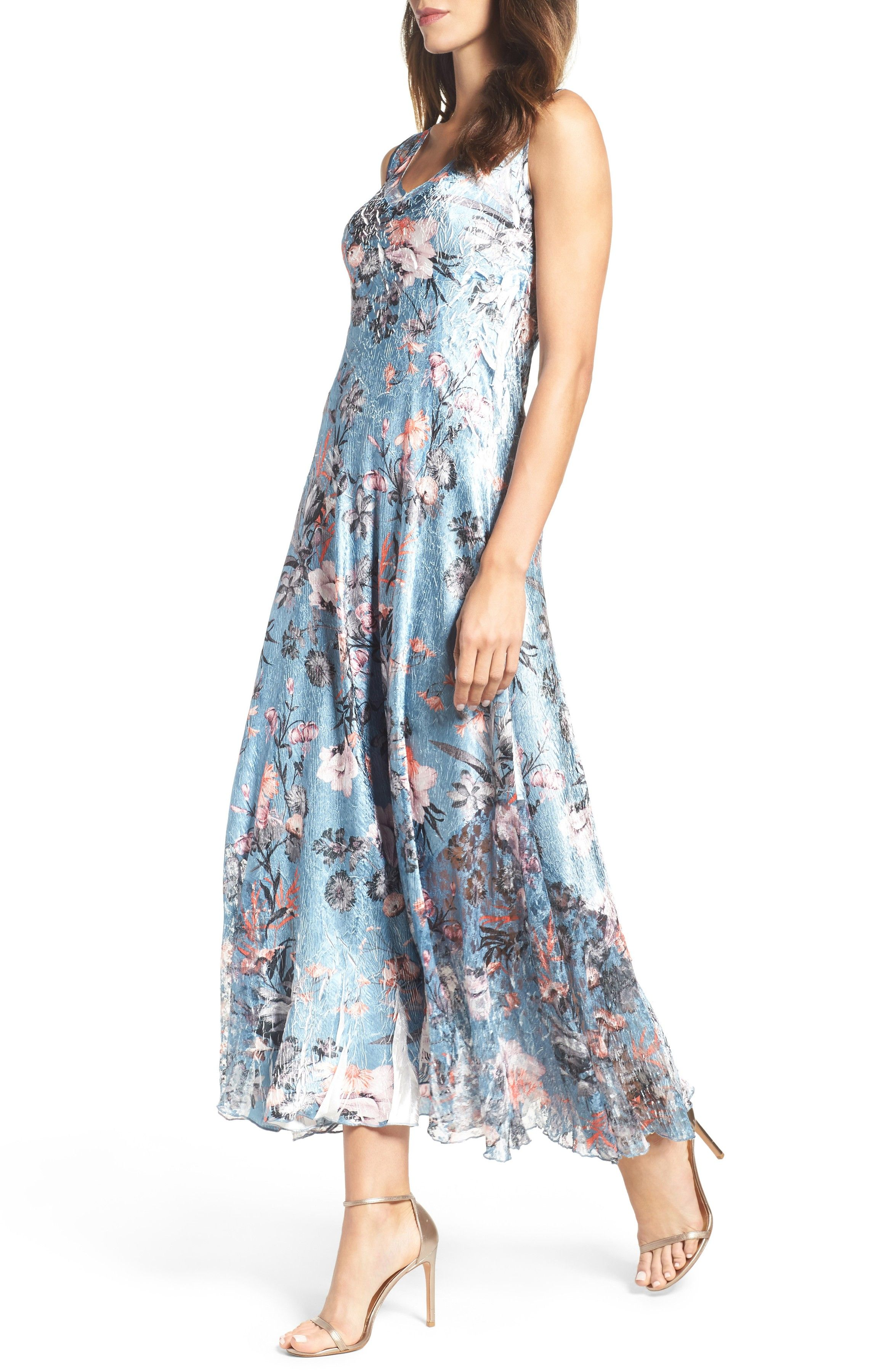 3916c528d3f Main Image - Komarov Charmeuse   Lace Maxi Dress