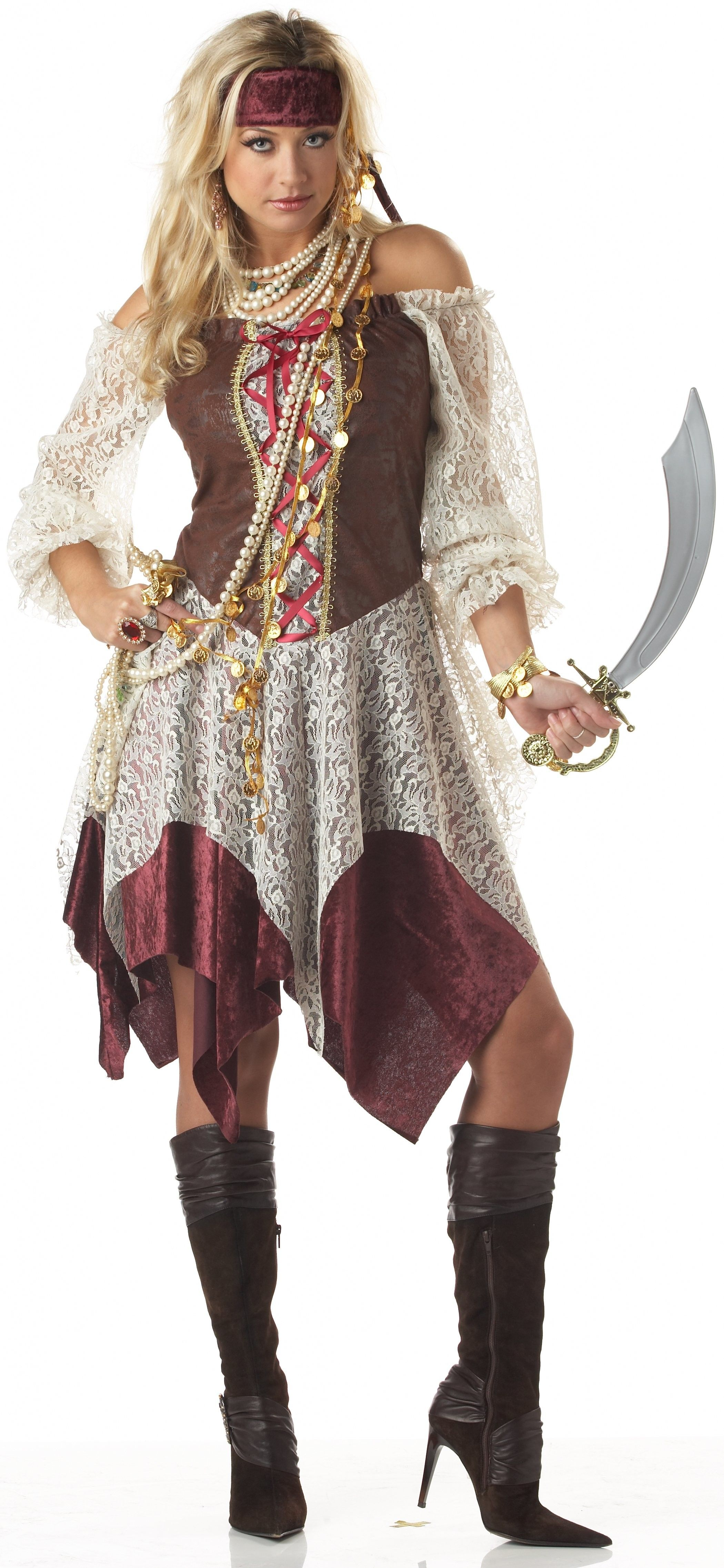 South Seas Siren Pirate Buccaneer Adult Plus Size Costume