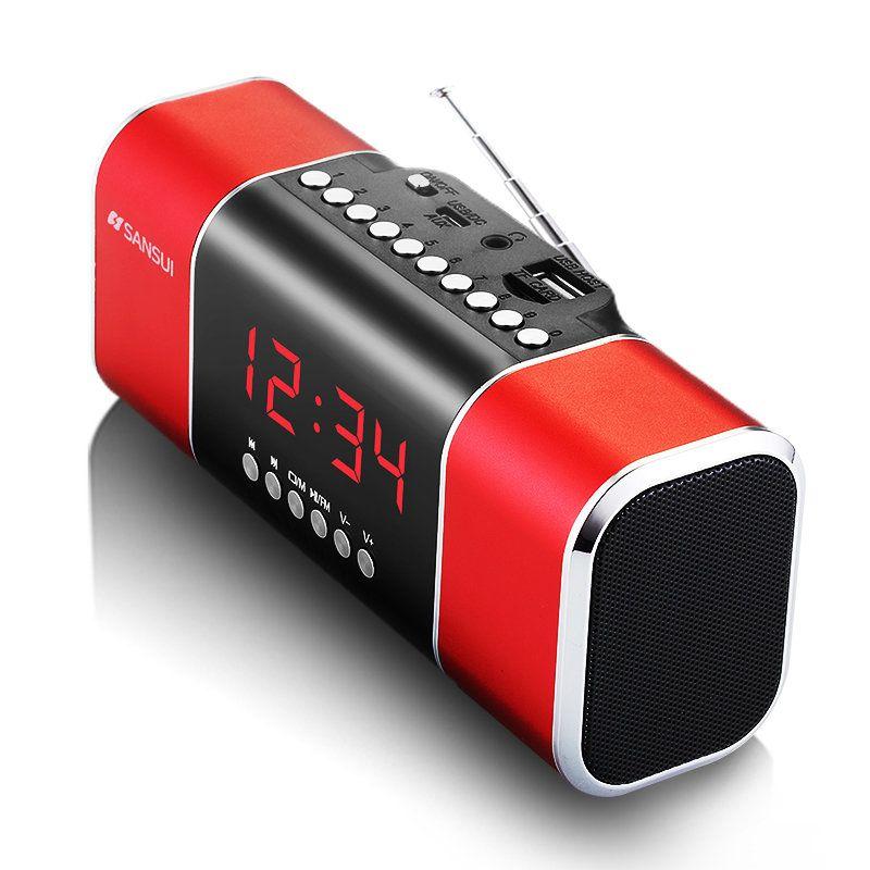 Sansui D11 FM Radio Portable Music Player Mini Speaker TF