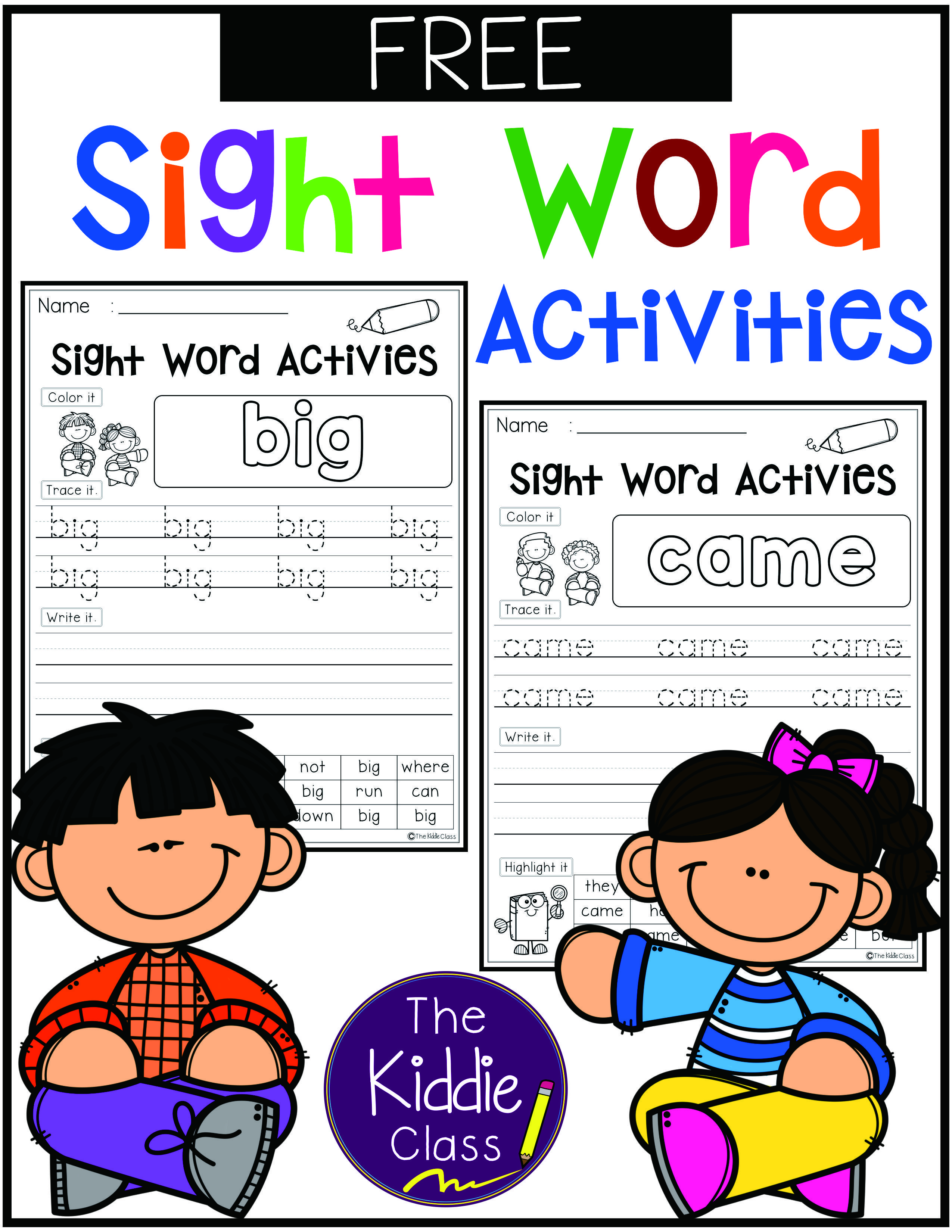 Free Sight Word Activities There Are 10 Pages Of Sight