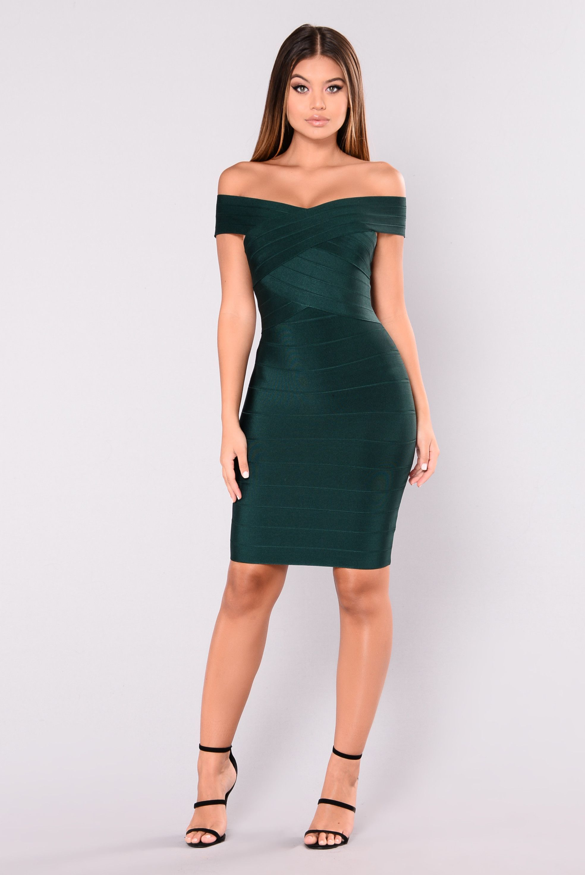 e98f0841939b Cross My Body Dress - Hunter Green in 2019