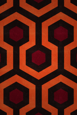 A Section Of The Patterned Carpet Used In Stanley Kubrick S The