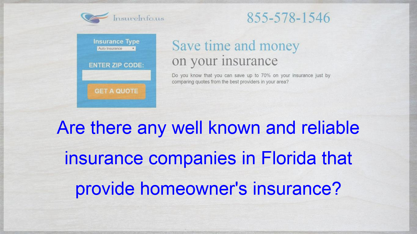 Seems That Every Insurance Company Is Leaving Florida