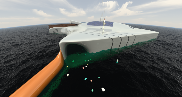 A 20 Year Old S Invention Could Rid The Ocean Of Plastic Pollution Ocean Cleanup Oceans Of The World Garbage In The Ocean
