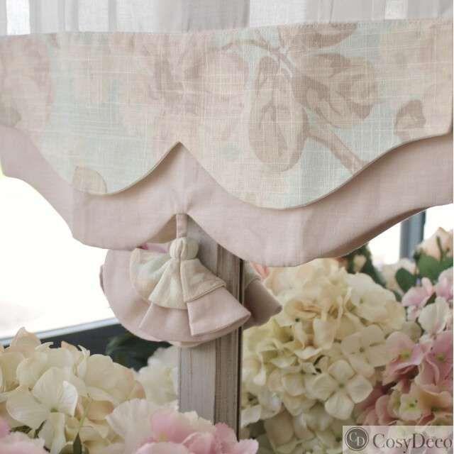 joli brise bise fleuri rose pastel style shabby chic pour la chambre en 2020 rideaux shabby
