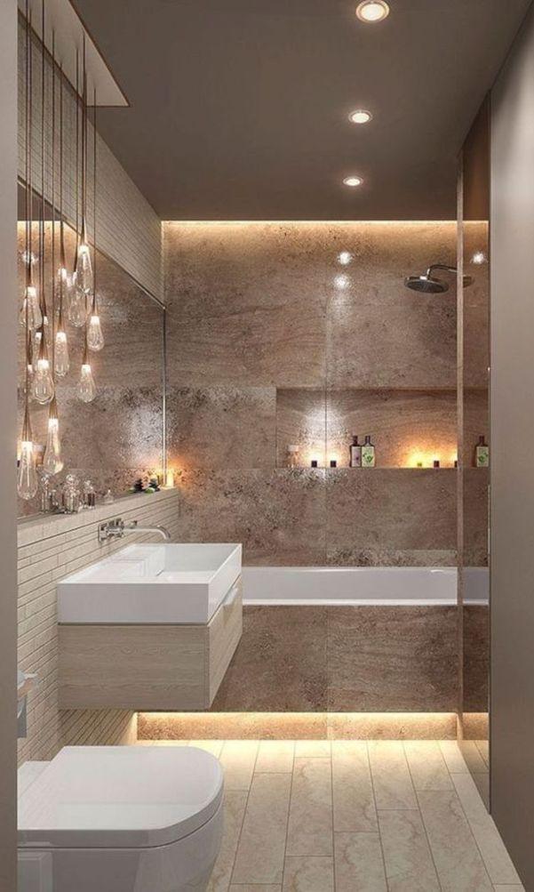 58 Awesome Inspiring Design Ideas For Bathrooms 2020 Part 39 Bathroom Inspiration Modern Bathroom Design Luxury Bathroom Interior Design