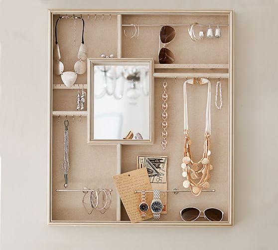 Blake Wall Mount Jewelry Display Wall Mounted Jewelry Display Jewellery Storage Display Home Accessories