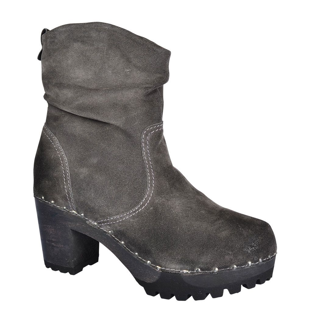 SOFTCLOX Ophelia Bailey granit #softclox #soft #clogs #winter #wintershoes #goatvelours #woddensole #granit #shoes