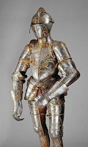 German, documented 1513–1579 Equestrian Armour of Emperor ...