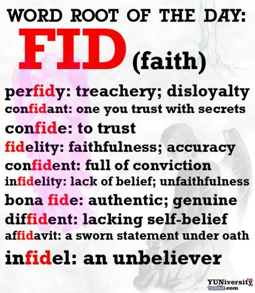 Vocabulary Help Word Root u201cFIDu201d (Faith) English, School and Root - new 10 sworn statement examples