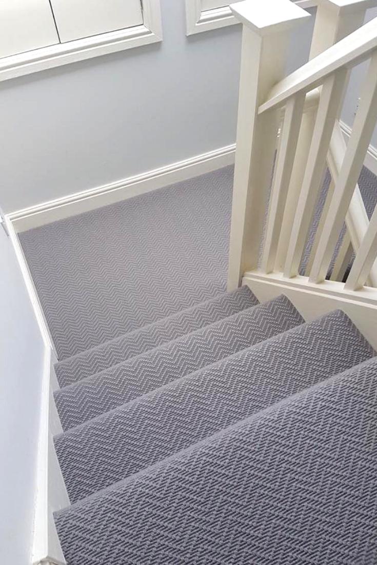 Alternative Flooring S Wool Iconic Chevron Tower Installation By Carpet Studio Stair Runner Carpet Carpet Staircase Alternative Flooring