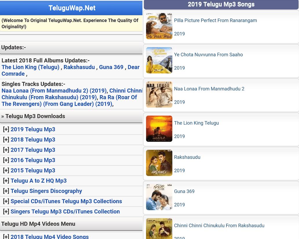 Teluguwap 2019 Download Telugu Song Movies Videos Songs Audio Songs Movies