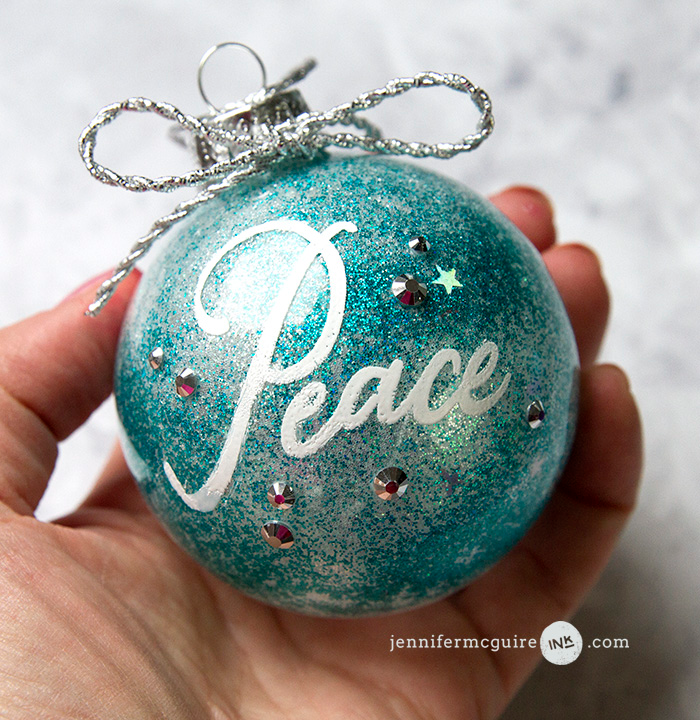 Glitter & Alcohol Ink Ornaments Christmas crafts for