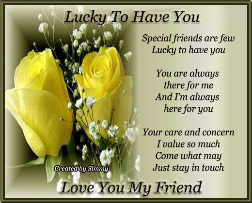 Wishes for the day to a good friend