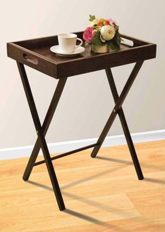 Grand Serving Tray In Dark Espresso Living Room Furniture