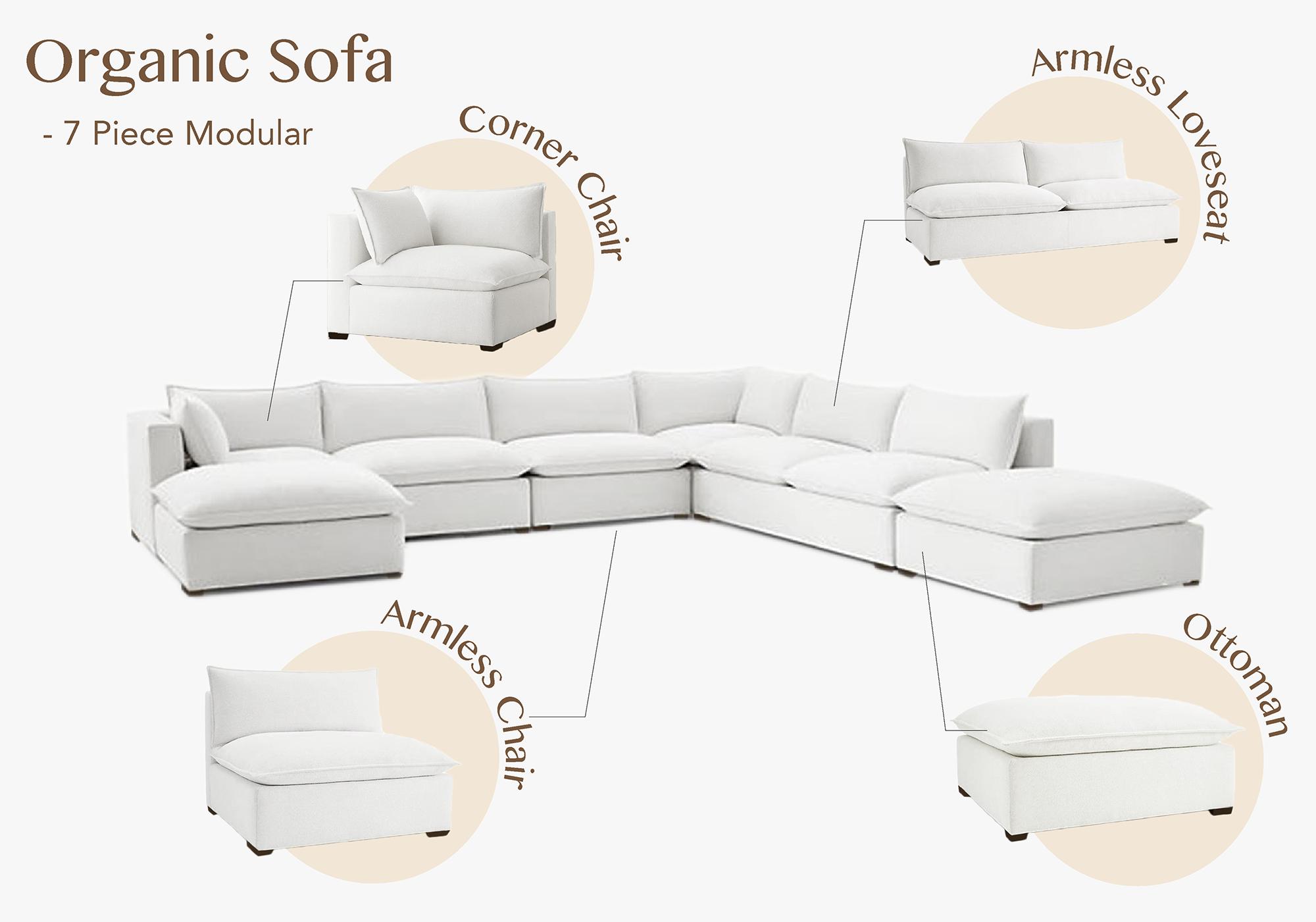 Organic 7 Piece Sofa Modular Sectional 7 Piece Modular Sectional Sofa Modular Sectional Sofa Furniture The Futon Shop In 2020 Modular Sectional Sofa Modular Sofa Love Seat
