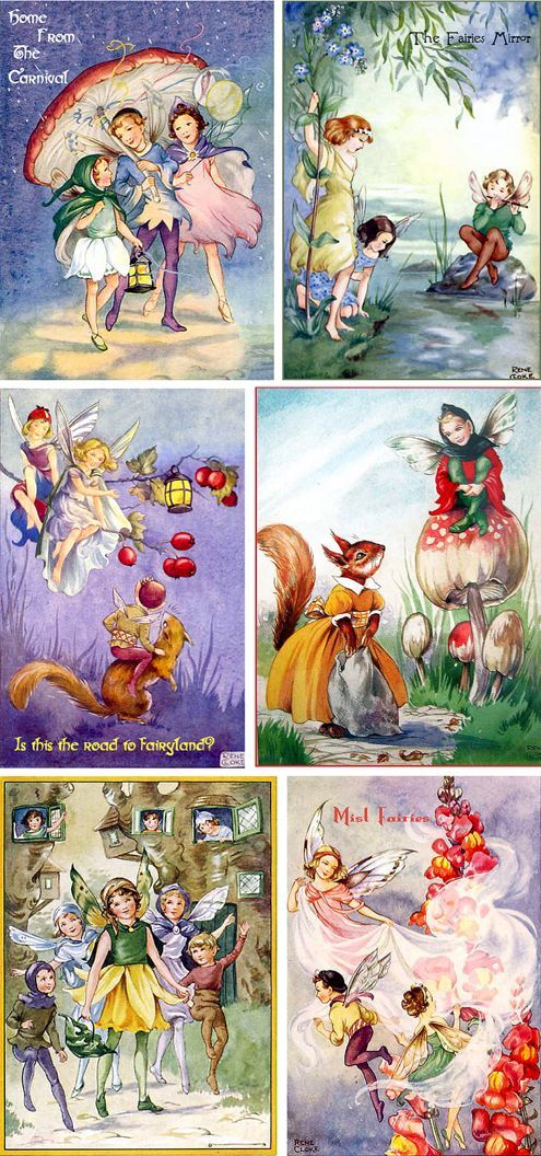 Rene Cloke (4 Oct 1905 - 1 Oct 1995)  She illustrated several Blyton books including The Pixieland Story Book (Collins 1966). Included is  an illustration from Joy Bells, a postcard entitled
