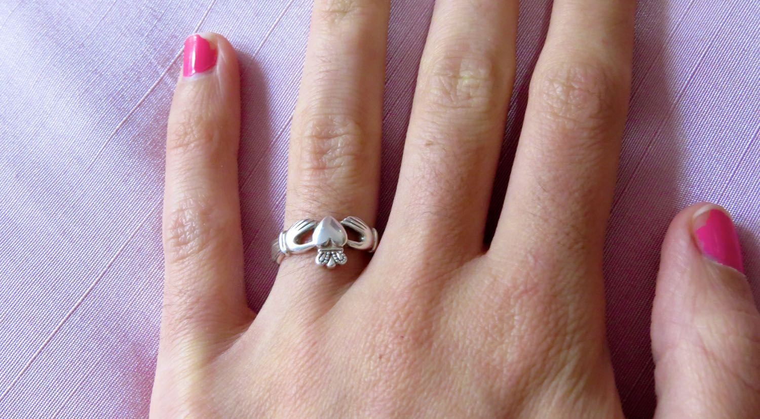 Love When a Claddagh ring is worn on the left ring finger and it