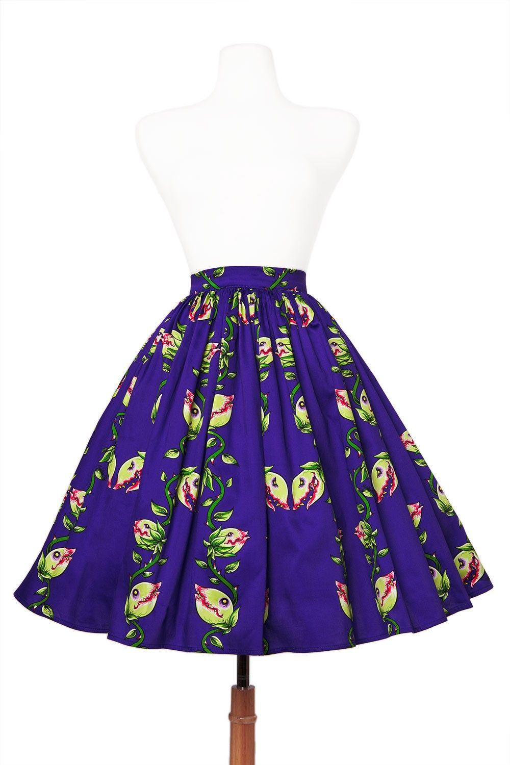 Deadly Dames - Darling Dames Skirt in Venus Fly Trap Print | Pinup Girl Clothing
