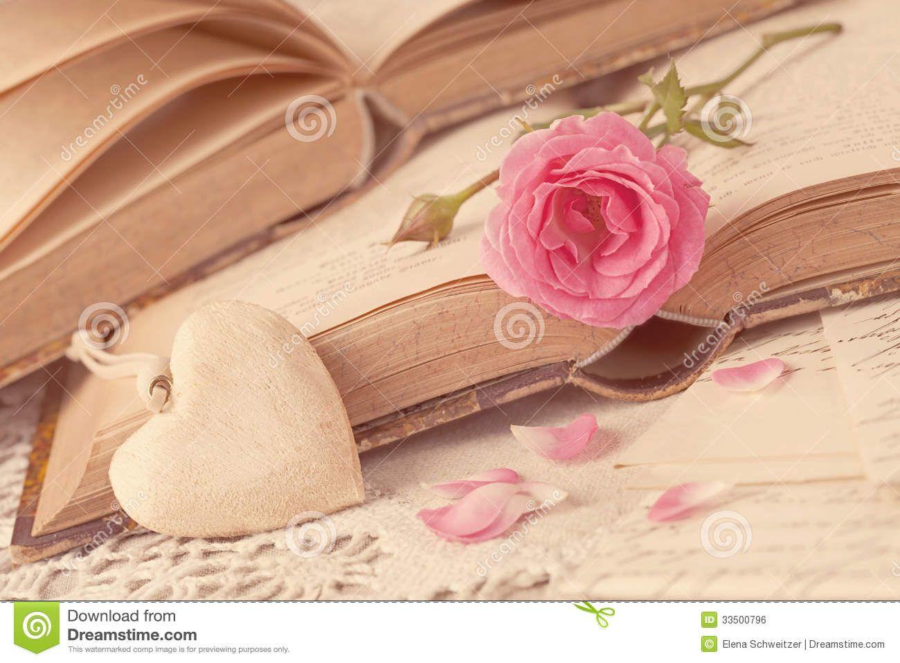 fotos de livros e flores secas - Bing Imagens