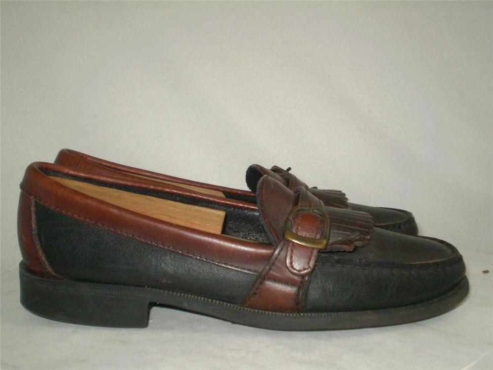 85996c9ad37 SEBAGO LOAFER Vintage USA Classic Black Brown Fringe Buckle Moccasin Toe 7  slim  Sebago  LoafersMoccasins
