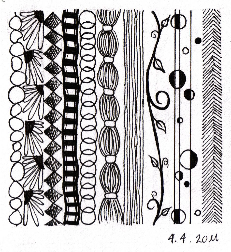 Line Drawing Zentangle : Not technically a zentangle but some great ideas for