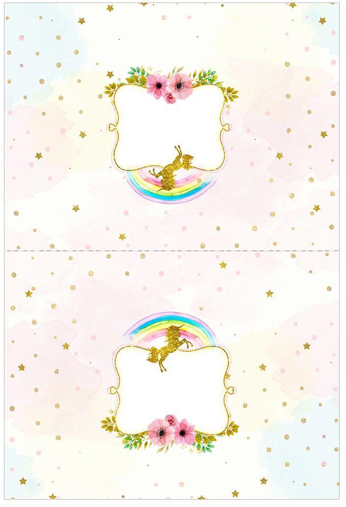 Fiesta de Unicornios: Etiquetas para Candy Bar para Imprimir Gratis ...