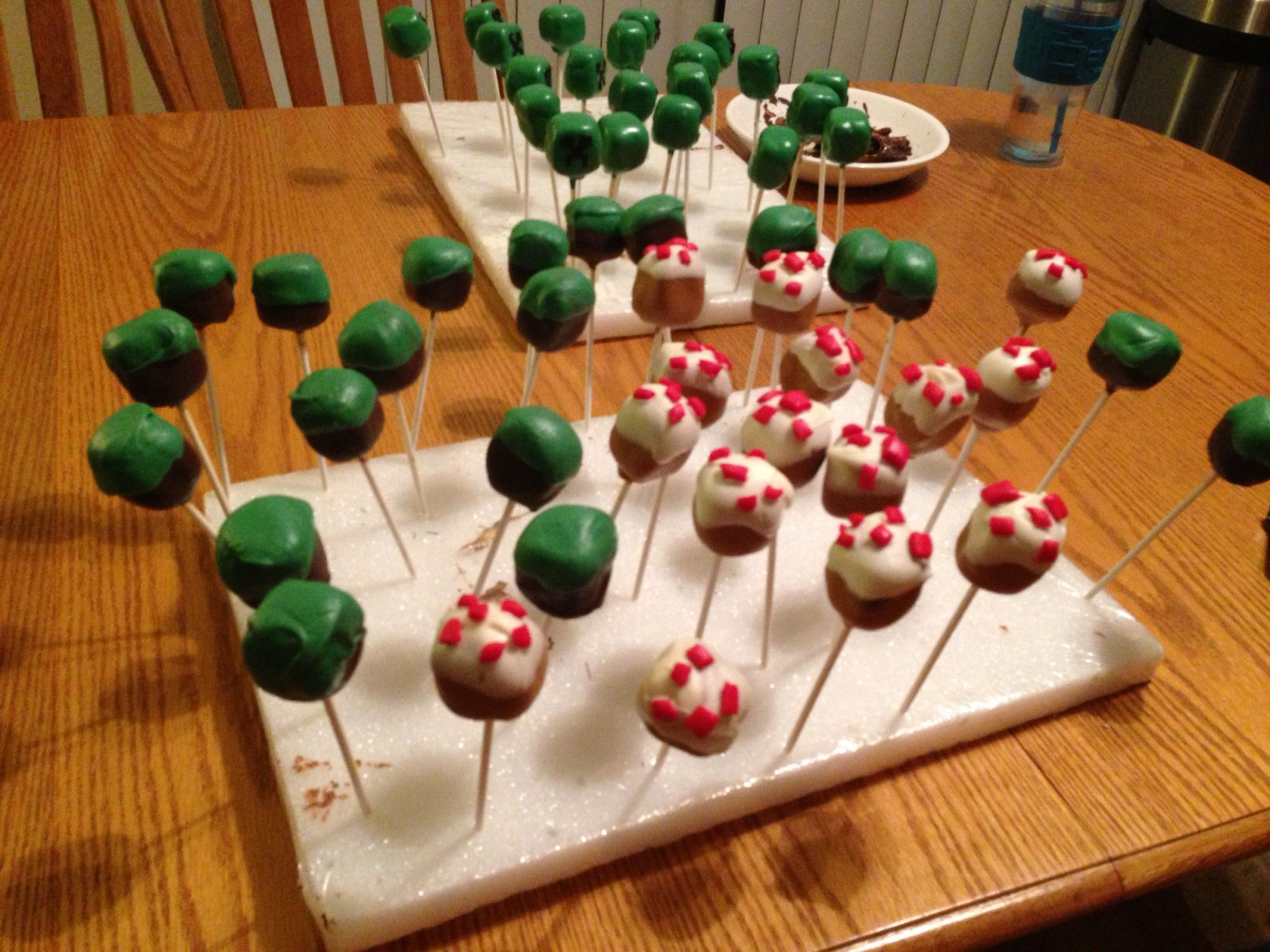 Minecraft Cake Pops Hot Stuff Minecraft Cake Pops