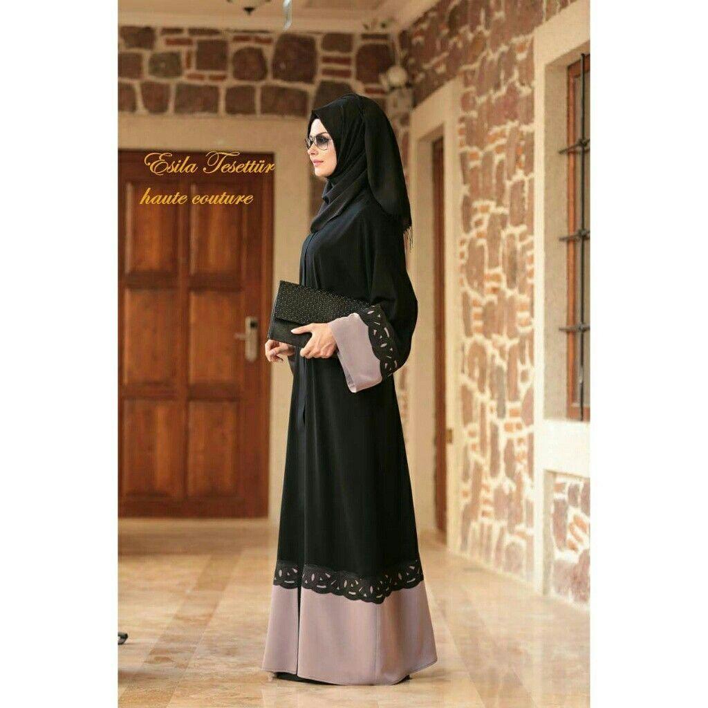 Ferace Tesettur Abiye Tesettur Nisanlik Dugun Nisan Sal Esarp Abaya Haute Couture Couture Abayalar