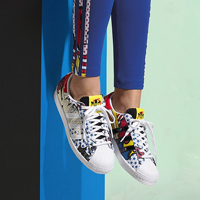 Check Out Rita Ora's Daring New Collection for Adidas is part of Workout Clothes Adidas - For her latest Adidas capsule collection, British singer Rita Ora designed a line stylish workout clothes inspired by pop art's Roy Lichtenstein and her own signature red lips