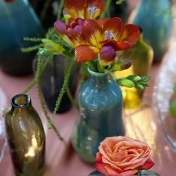 bohemian garden inspiration shoot with lovely eclectic and mismatched elements