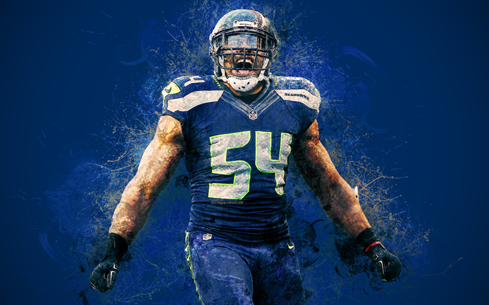 Download wallpapers Bobby Wagner, Seattle Seahawks, 4k