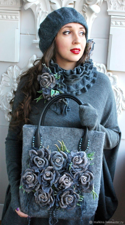 Photo of Felt accessory ensemble, roses