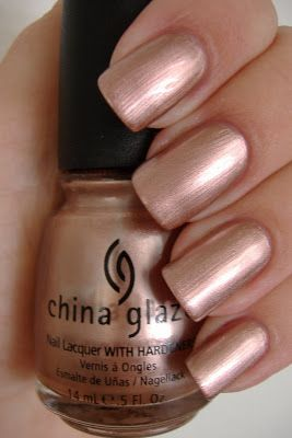 china glaze poetic - a mix between rose gold and copper. #metallic ...
