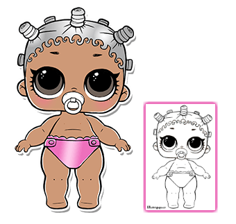 Pin By Carolina Gonzalez On Dibujos Lol Dolls Cool Coloring Pages Doll Party