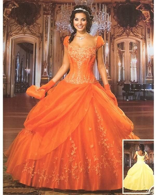 Orange Wedding Dress Designers Outfits Collection