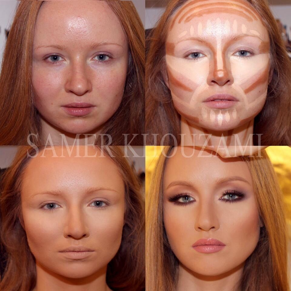 highlighting and contouring face looking amazing before and after