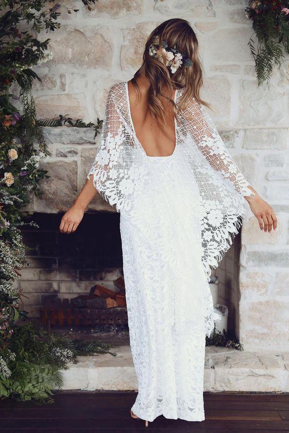 10 vestidos de novia boho chic ideales para bodas millennials