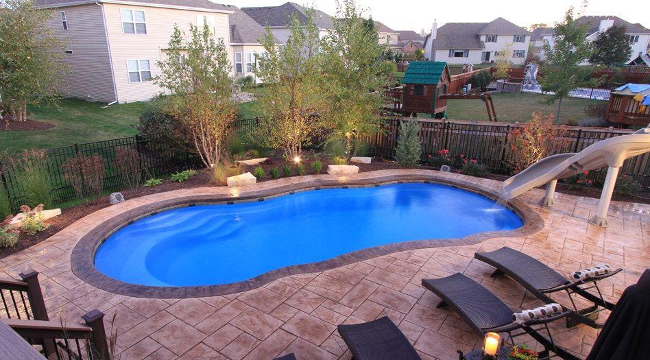 Swimming Pool Beautiful Garden Decor With Fiberglass Swimming Pool