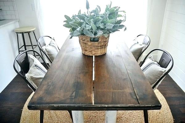 Metal Bistro chairs with Farm table Metal dining chairs