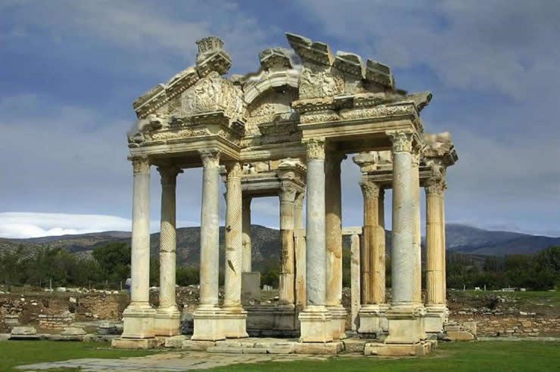 The Temple Of Aphrodite Ancient Agora Athens Cyprus Island