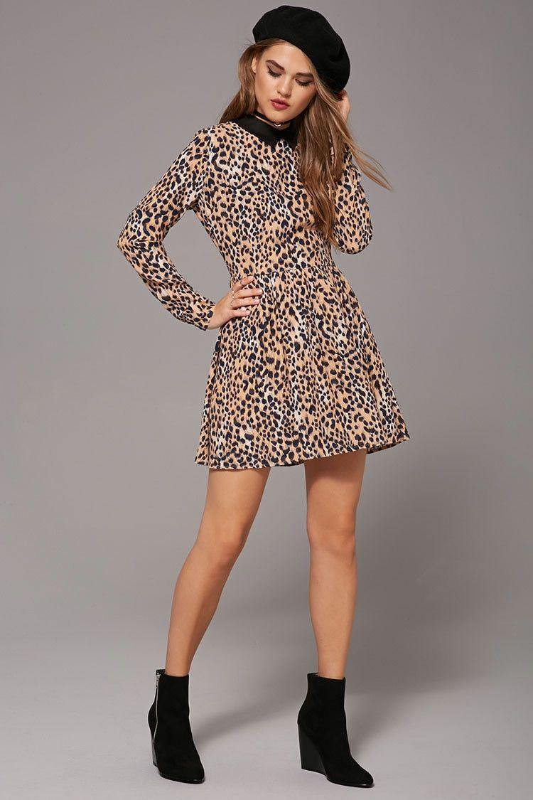 Collared Leopard Print Dress | Stylin\' | Pinterest | Leopards ...